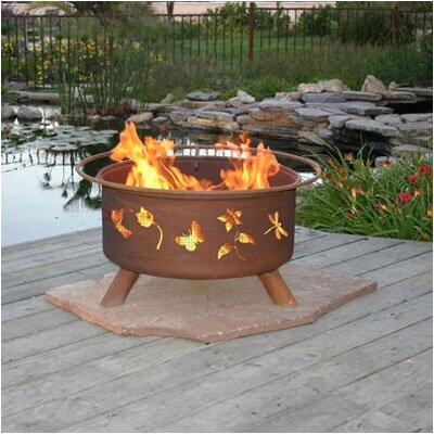 Patina Products Flower and Garden Fire Pit