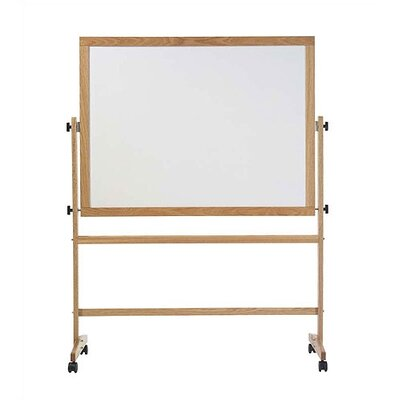 Marsh Freestanding Reversible Boards - Pro-Rite Markerboard / Natural Tan Cork - Oak Frame
