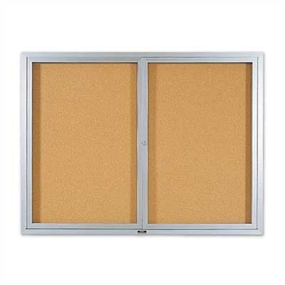 Marsh Deluxe Enclosed Bulletin Boards - Aluminum Frame