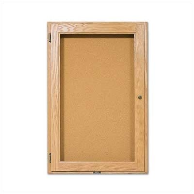 Marsh 30Wall-Mounted Enclosed Bulletin Boards - Oak