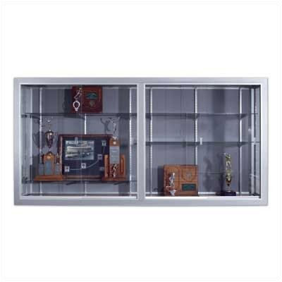 Marsh Series 50 Wall-Mounted Sliding Glass Door Trophy Cases - Plas-Cork (without Lighting)