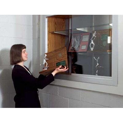 Marsh Series 70 Recessed Hinged Glass Door Trophy Cases - Plas-Cork (Without Lighting)