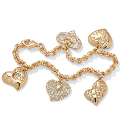 Gold Plated Diamond Ultra Cubic Zirconia Bracelet