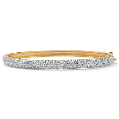18K Sterling Silver Diamond Bracelet