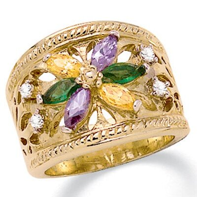 Palm Beach Jewelry Multi - Crystal Ring