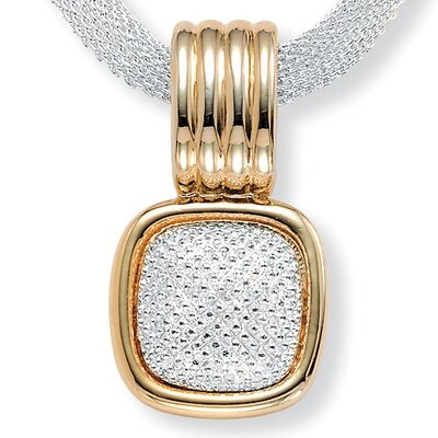Palm Beach Jewelry Tutone Mesh Necklace