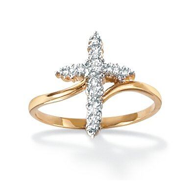 Palm Beach Jewelry Diamond Accent Cross Ring