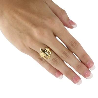 Palm Beach Jewelry Triple Cross Ring