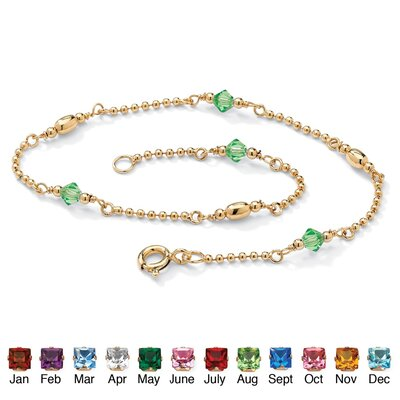 Palm Beach Jewelry Birthstone Beaded Ankle Bracelet