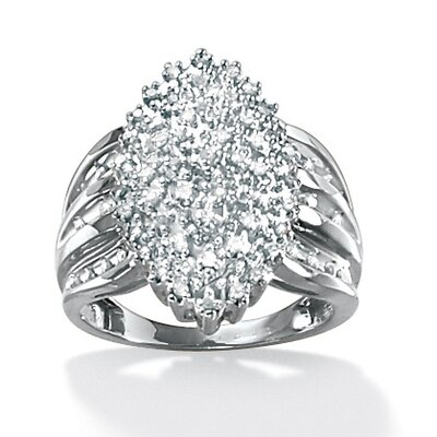 Round Diamond Marquise-Shaped Ring