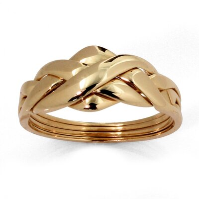 Palm Beach Jewelry 10k Gold Puzzle Ring