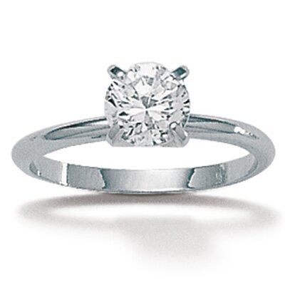 2 ct. Sterling Silver Round Cubic Zirconia Ring