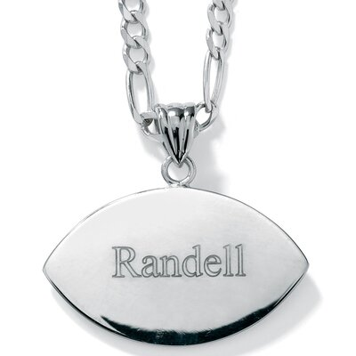 Palm Beach Jewelry Silver Football Charm