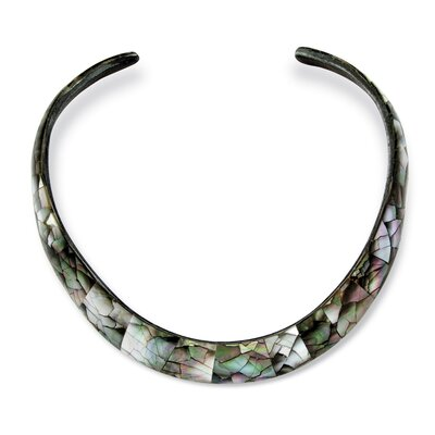 Palm Beach Jewelry Mother of Pearl Choker Necklace