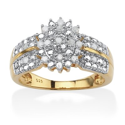 Palm Beach Jewelry Round Cut Ice Diamond Ring
