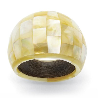 Palm Beach Jewelry Mother-Of-Pearl Statement Ring