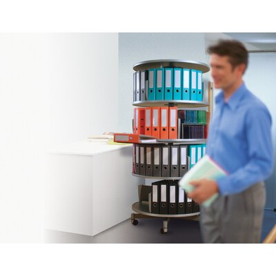 Empire Office Solutions Deluxe 2-Tier Rotary Binder Storage Carousel