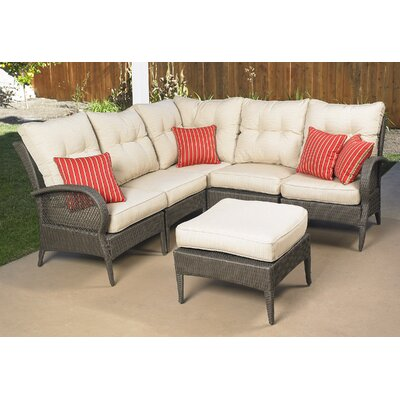 Mission Hills Laguna 6 Piece Sectional Deep Seating Group with Cushions