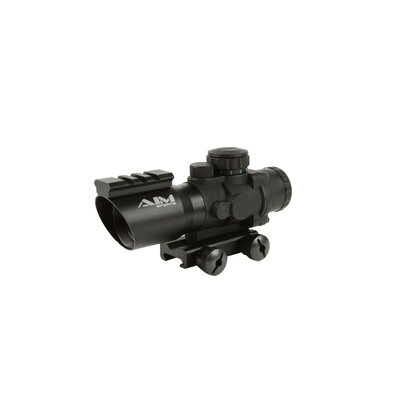 Aim Sports Inc 4X32 Tri-Illuminated Scope with Single Weaver Rail / Recon Series