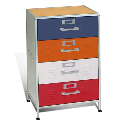 Elite Products Locker 4-Drawer Dresser
