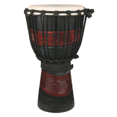 The Drum Works Youth Djembe / Drum in Red and Black