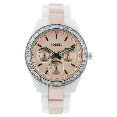 Fossil Stella Women's Watch in Pink & White