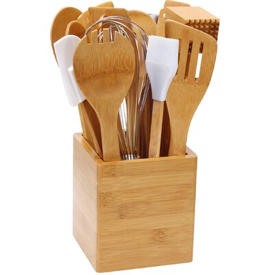 Cook N Home 15 Piece Bamboo Tool Set