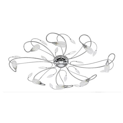 EGLO Gerbera 8 Light Semi Flush Ceiling Light