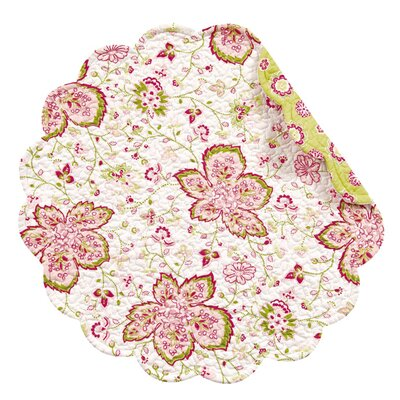 C & F Enterprises Chesapeake Sorbet Round Quilted Placemat (Set of 4)
