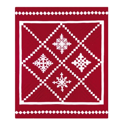 C & F Enterprises Snowfall Quilted Cotton Throw