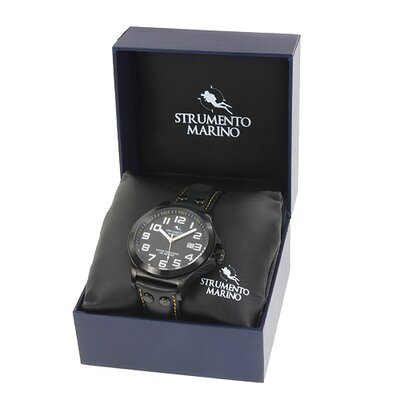 Strumento Marino Harbour SM046LBK/BK Men's Stainless Steel Watch