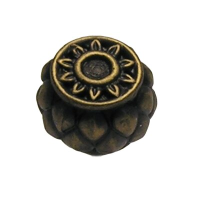 Anne at Home Corinthia Large Round Cabinet Knob in Distressed Rubbed Bronze