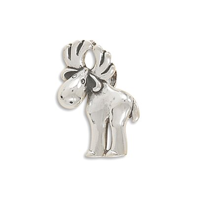 Jewelryweb Sterling Silver Moose Slide Slide Measures 27.5x17mmCharm