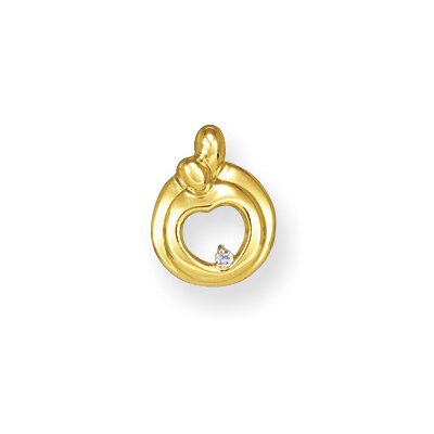 Jewelryweb 14k Hearts of Promise Diamond Pendant