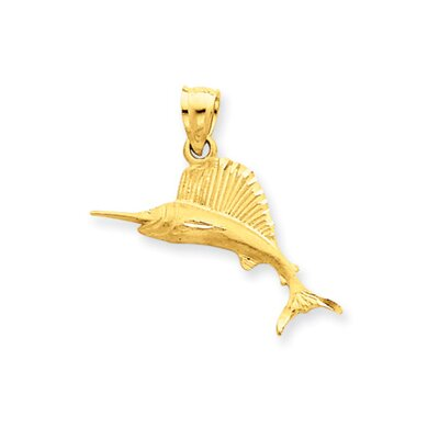 Jewelryweb 14K Sailfish Pendant