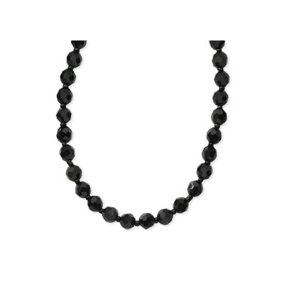 Faceted Jet Bead 18 InchNecklace