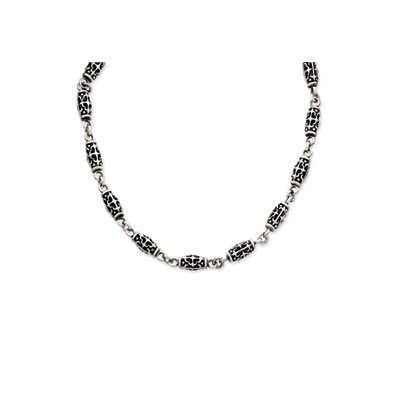 Jewelryweb Sterling Silver 20 Antiqued Necklace - 20 Inch- Toggle