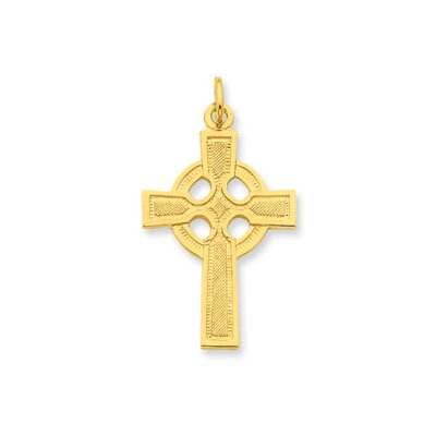 Sterling Silver and 24k Gold -plated Celtic Cross Pendant