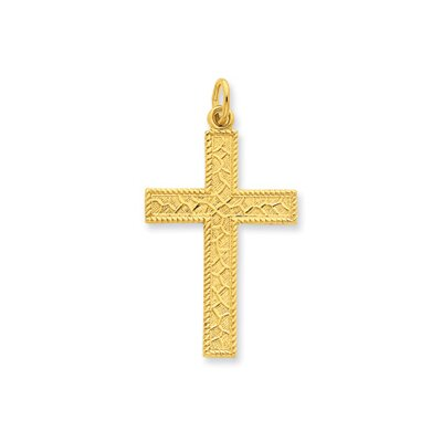 Sterling Silver and 24k Gold -plated Latin Cross Pendant