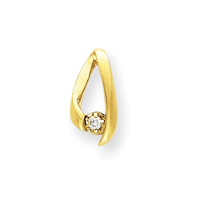 Jewelryweb 14k Diamond chain slide