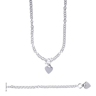 Jewelryweb Sterling Silver Rhodium Plated 18 Inch Toggle Necklace