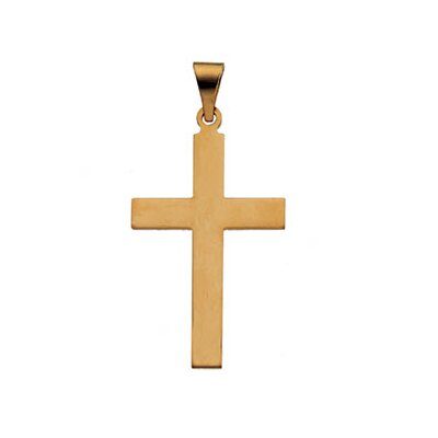 14k Yellow Gold Cross Pendant 18x12mm
