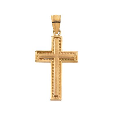 14k Yellow Gold Cross Pendant29x19mm