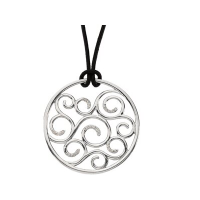 Jewelryweb Sterling Silver Diamond Necklace 1/6ct PendantOnly