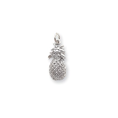 Jewelryweb Sterling Silver Pineapple Charm