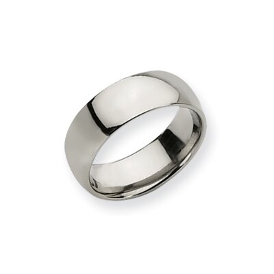 Titanium 8mm Polished Comfort Fit Wedding Band Ring