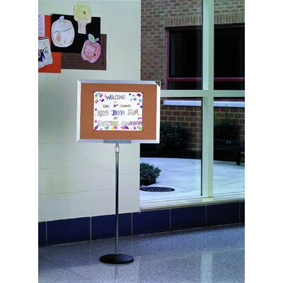 "Ghent 18""H x 24""W Single Pedestal Bulletin Board"