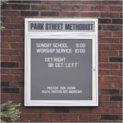 Ghent Illuminated Changeable Letterboard  (2 door)