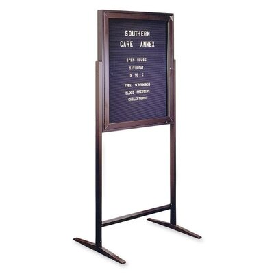 Ghent Standing Message Center,w/Gothic Letters, 68&quot;Tall, 3'x2', Black