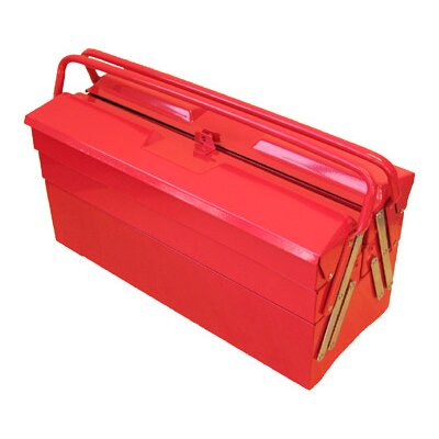 "Excel Hardware 19.5"" Cantilever Portable Metal Tool Box with 5 Trays"